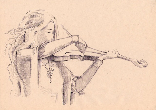 violin-pencil-art
